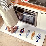 """Ustide Colorful Fishes Cute Design Doormats,17.7""""x31.5"""""""
