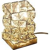 (セーディコ)Cerdeco まるでオーロラのような煌き… 空間を彩る 手軽に贅沢 テーブルライト ユニークな立方体パズルデザイン 手作業で作る デスクライト インテリア 間接照明 クリスタルガラス レインボー (Medium, Gold) TBL1