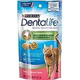 Purina DentaLife Made in USA Facilities Cat Dental Treats, Savory Salmon Flavor - (10) 1.8 oz. Pouches