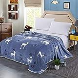 talever Kid Blanket Super Plush ThrowBlanket Cartoon Print Kids AdultsCharacter Lightweight Coral Fleece Blanket Size 59x78