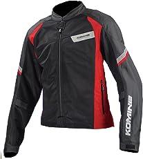 コミネ(Komine) バイクジャケット ライディングメッシュジャケット ライト ブラック/レッド L 07-101 JK-101