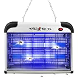Mosquito Zapper Indoors,2800V 20W Electric Bug Repellent Lamp Mosquito Killer,Insect Attractant Trap for Fly,Gnat,UV Light Fl