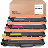 4 Pack Compatible TN253 TN257 Toner Cartridge for Brother DCP-L3510CDW MFC-L3750CDW MFC-L3770CDW L3745CDW HLL3230CDW HLL3270C