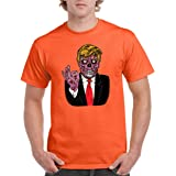 CAMALEN Trump Zombie President Funny Men's T-Shirts Round NeckTee Shirts for Men