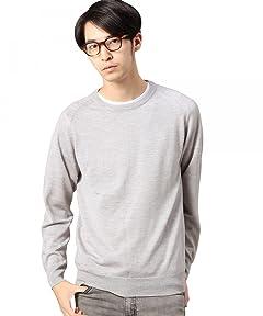 12 Gauge Wool Crewneck Sweater 1213-106-3113: Light Grey