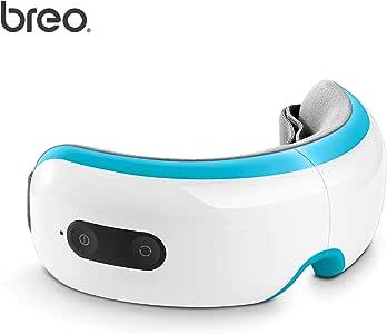breo アイマッサージャー/目元マッサージジャー/ホットアイマスク/快眠グッズ 3種のエアー加圧モード / ホットパック機能/振動機能/サウンド再生機能 USB充電式 折り畳み コンパクト (スカイブルー) - iSee3S -