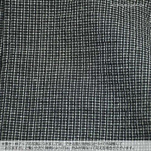 [ 京都きもの町 ] 男の夏甚平(じんべい) 涼やかなメンズ綿麻甚平 L 07黒格子