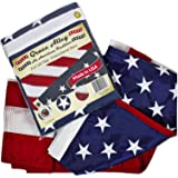 (0.9m by 1.5m) - American Flag: 100% American Made - USA Flags Made In USA - Embroidered Stars and Sewn Stripes - . for Prime