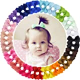 "40pieces 2"" Grosgrain Ribbon Tiny Hair Bows Clips Fully Lined Hair Clips Hair Accessories for Baby Gilrs Toddlers Kids Infant"