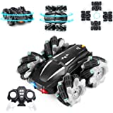 RC Car Remote Control Car, Eocean 4WD RC Stunt Car with LED Headlight & 360°Rotating, 2.4GHz High Speed Off Road Drift Cars,