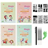 Sank Magic Practice Copybook for Kids - Number & Letter Tracing Book, Drawing & Math Practice Books - Reusable Handwriting Wo