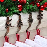 OUFINI Stocking Holders for Mantle - Christmas Stocking Holder for Mantle Christmas Stocking Hangers for Mantel Stocking Hook