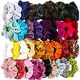 40 Pcs Hair Scrunchies Velvet Elastic Hair Bands Scrunchy Hair Ties Ropes Scrunchie for Women or Girls Hair Accessories - 40