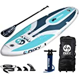 """NIXY Venice Paddle Board Yoga Fitness & Beginner Inflatable SUP 10'6"""" x 34"""" x 6"""" Ultra-Light Stand Up Paddleboard Built with"""