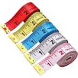 BUSHIBU 5 Piece Body Measuring Ruler Sewing Tailor Tape Measure Soft Flexible 79'' /200 cm Colorful