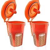 Fill N Save 2 Pack Reusable Carafe K-Cups. 24K Gold Reusable coffee filter for the Keurig 2.0, K200, K300, K400, K500 Series
