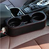 iTimo Universal Car Seat Cup Holder Trash Can Car Storage Box Auto Drink Holder Phone Holder Stand PU Leather Stowing Tidying