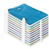 BoxLegend T Shirt Organizer Closet Organizer Clothing Trays - 10 Pack Durable Stackable Shirt Receipt Board Shirt Dividers Fi