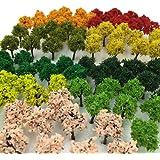 森林 選べる 色 数量 50本 100本 【DauStage】 Nゲージ ジオラマ 鉄道 建築 模型 用 樹木 風景 3…