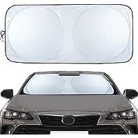 Canplus 車用サンシェード 高密度生地 駐車 遮光フロントシェード コンパクトシェード カーサンシェード サイズ選…