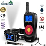 My Pet Command 2600 FT Range (0.5 Mile) 4-1 Citronella Dog Training Collar with Remote, Spray,Vibrate,Tone and Night Light Fu