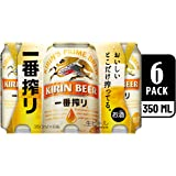 Kirin Ichiban Lager Beer Can, 350ml (Pack of 6)