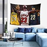 Linxher Mi-ch-ael JOR-dan K-o-b-e Br-y-ant Tapestry Wall Art Hanging Tapestries Blanket 3D Poster for Dorm Decorations Living