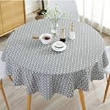 Cotton Linen Tablecloth Round Simple Style Twill Tablecloths Table Cover Circular Table Cover for Kitchen Dinning Tabletop De