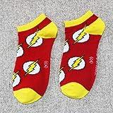 Colorful Green Lantern Superman Batman Pattern Cartoon Women Men's Short Socks Summer Casual Funny Unisex Ankle socks