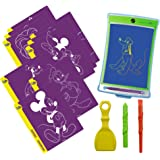 Boogie Board Magic Sketch, Stylus, Protective Cover, 3 Texture Tools, 18 (9 Double Sided) templates Disney Favorites