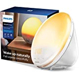 Philips SmartSleep Wake-up Light, Colored Sunrise and Sunset Simulation, 5 Natural Sounds, FM Radio & Reading Lamp, Tap Snooz