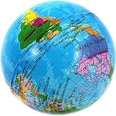 地球儀ボール ミニグローブスクイーズストレスボール 泡ハンドセラピー運動緩和可能ボール
