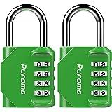 Puroma 2 Pack Combination Lock 4 Digit Padlock for School Gym Locker, Sports Locker, Fence, Toolbox, Case, Hasp Storage, TH00