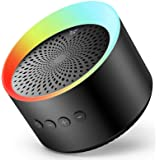 Bluetooth Speaker with Colorful Lights, Axloie Speakers Bluetooth Wireless with Deep Bass and Stereo Sound, 12 Hours Playtime