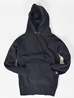 Reverse Weave Pullover Hooded Sweat Shirt 112-55-0016: Black