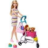 Barbie Stroll 'n Play Pups Doll and Accessories