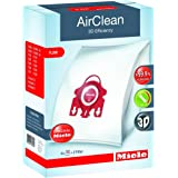Miele 10123220 AirClean 3D Efficiency Dust Bag, Type FJM, 4 Bags & 2 Filters White