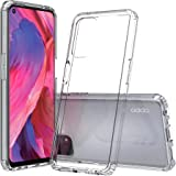 MEZON Ultra Slim Premium Crystal Clear TPU Gel Back Case for Oppo A74 5G – Shock Absorption, with Screen Protector (Oppo A74