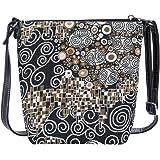 Signare Tapestry Stylish Sling Purse Bag Crossbody Shoulder Handbag in Klimt The Kiss (SLING-KISS)