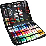 ProCase Sewing Kit, (183 PCS) Sewing Supplies with 38 XL Thread Spools, Scissors, Needles, Pins, for Home, School, Beginner,