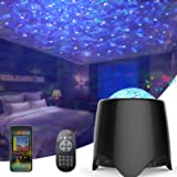 WGSS Star Machine Lights Projector for Kids Room, LED Galaxy Nebula USB Night Light with Bluetooth Speaker Music Ocean Wave W