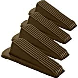 Classic Rubber Door Stopper - Sturdy and Durable Security Door Stop Wedge, Multi Surface and Non Scratching, Gaps up to 1.2 I