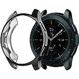 XIHAMA For Samsung Galaxy Watch 42mm スマートウォッチ 保護ケース TPUメッキフレーム シリコン製 カバー 耐衝撃 Watch Case Cover 全6色 (Galaxy Watch 42mm, 黒)