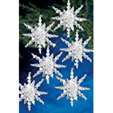 Beadery Holiday Beaded Ornament Kit Snow Clusters 3.5-inch Makes 12