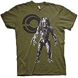 Predator Officially Licensed Standing Mens T-Shirt (Olive)