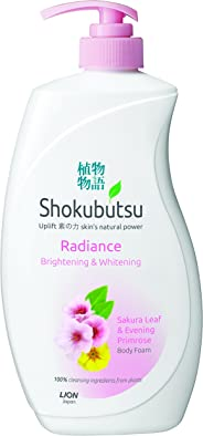 Shokubutsu Radiance Body Foam, Brightening and Whitening, 900ml