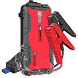 GOOLOO GT1500 1500A Peak SuperSafe Car Jump Starter (Up to 8.0L Gas or 6.0L Diesel Engine) with USB Quick Charge, In & Out Ty
