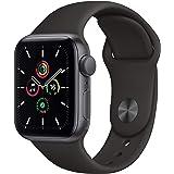 最新 Apple Watch SE(GPSモデル)- 40mmスペースグレイアルミニウムケースとブラックスポーツバンド