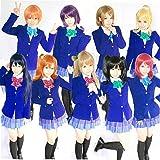 CEXIN(セシン) Love Live! ラブライブ! 全員 コスプレ衣装 国立音ノ木坂学院 きっと青春が聞こえる 女子制服 コスチューム 仮装 学園祭 大きいサイズ