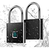Fingerprint Padlock,AICase IP65 Waterproof Ultra Light One Touch Open Fingerprint Lock with USB Charging for Gym, Sports, Sch